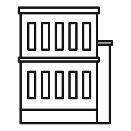 Building reconstruction icon, outline style