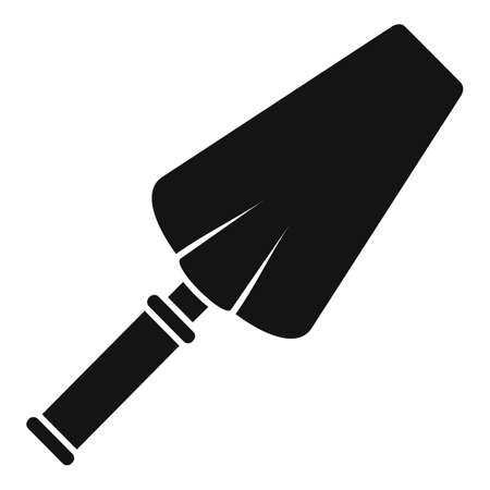 Cement trowel icon, simple style