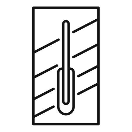 Worker trowel icon, outline style Stock Vector - 150793878