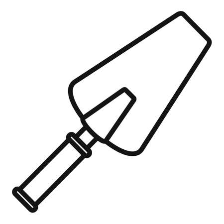 Cement trowel icon, outline style