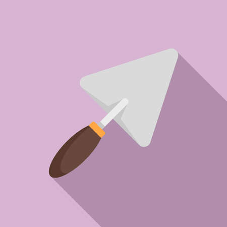 Trowel icon, flat style Illustration