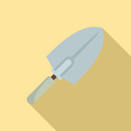 Tiler trowel icon, flat style Stock Vector - 150955871