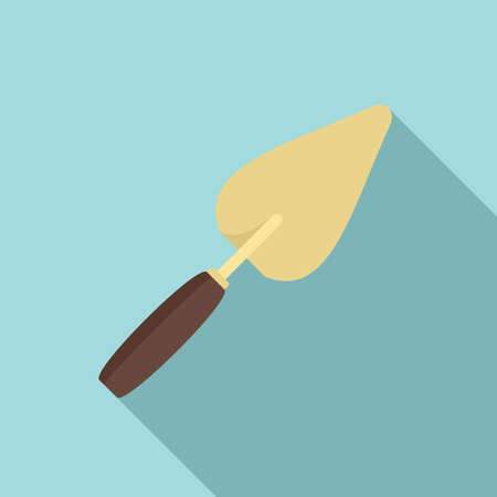 Construction trowel icon, flat style