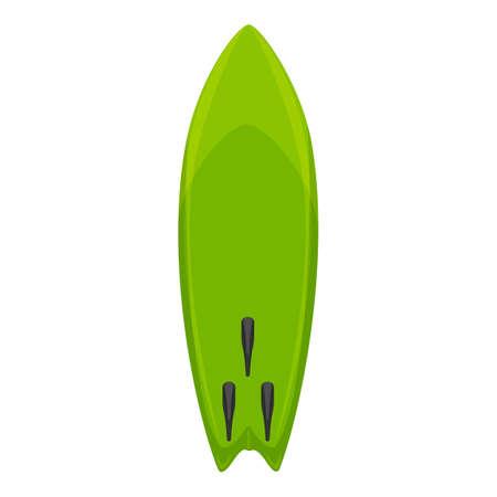 Surfboard icon, cartoon style