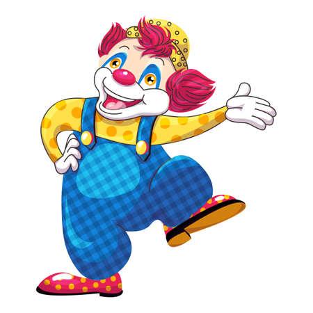 Dancing clown icon, cartoon style Illustration