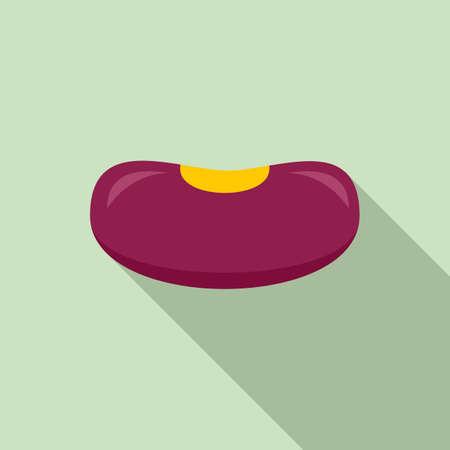 Farm kidney bean icon, flat style