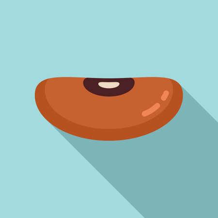 Garden kidney bean icon, flat style Illustration