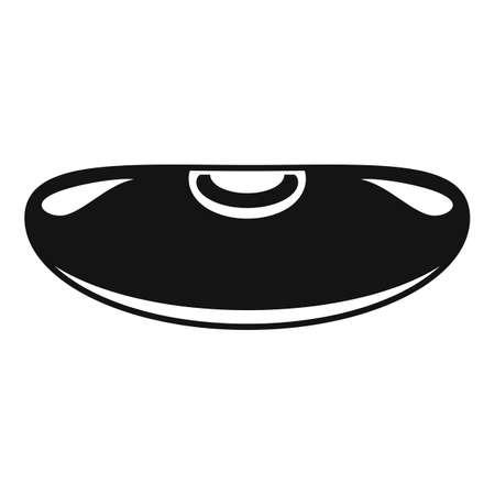 Adzuki kidney bean icon, simple style