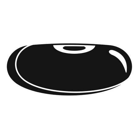 Cuisine kidney bean icon, simple style