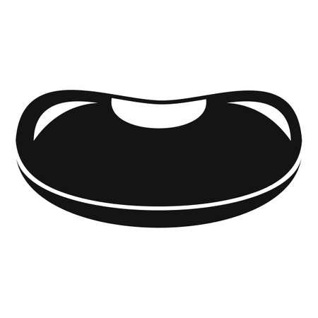 Farm kidney bean icon, simple style
