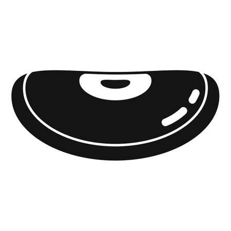 Garden kidney bean icon, simple style