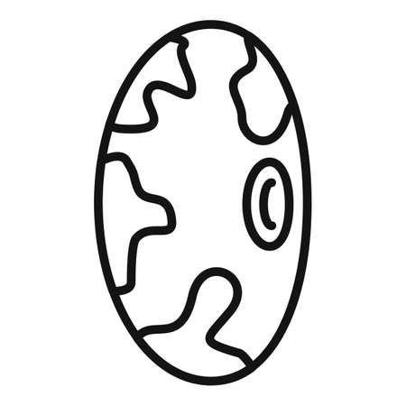 Kidney bean icon, outline style