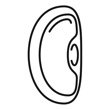 Haricot kidney bean icon, outline style