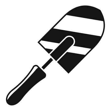 Brick trowel icon, simple style Illustration