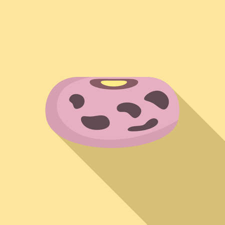 Agriculture kidney bean icon, flat style