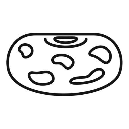 Agriculture kidney bean icon, outline style