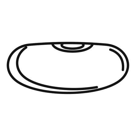 Cuisine kidney bean icon, outline style