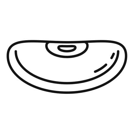 Garden kidney bean icon, outline style