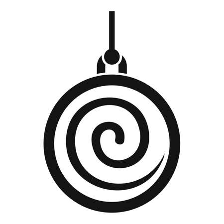Spiral pendulum icon, simple style Vector Illustration