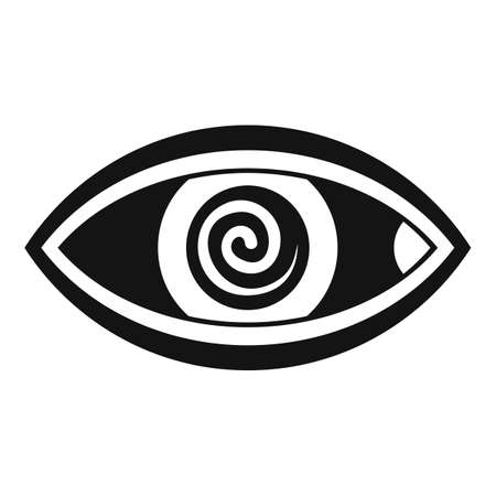 Hypnosis eye therapy icon, simple style Illustration
