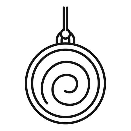 Spiral pendulum icon, outline style