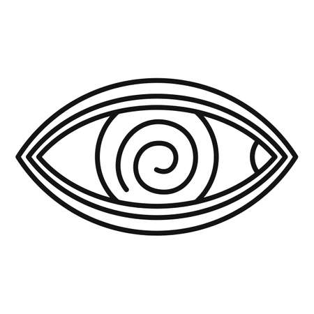Hypnosis eye therapy icon, outline style