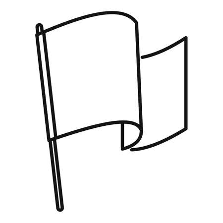 Award flag excellence icon, outline style