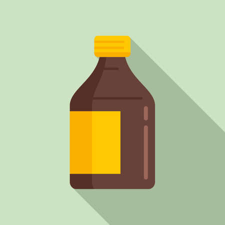 Cough syrup icon, flat style Иллюстрация