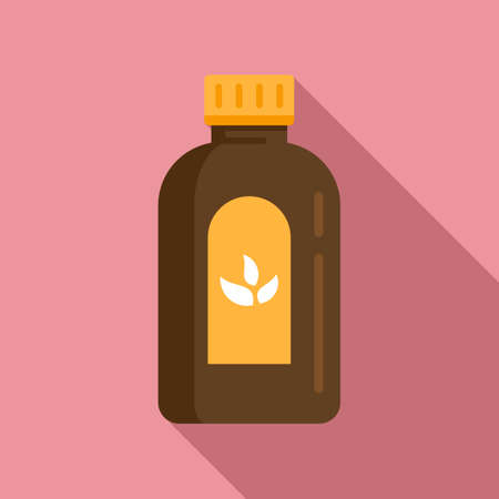 Cough syrup dosage icon, flat style