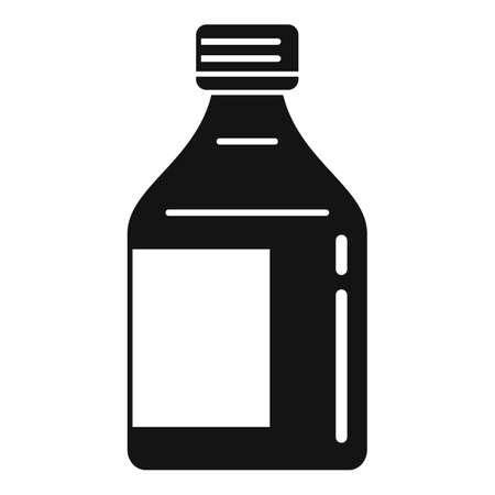 Cough syrup icon, simple style