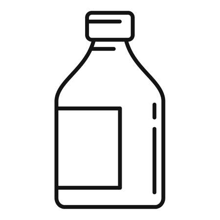 Cough syrup icon, outline style Иллюстрация