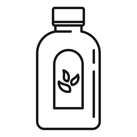 Cough syrup dosage icon, outline style