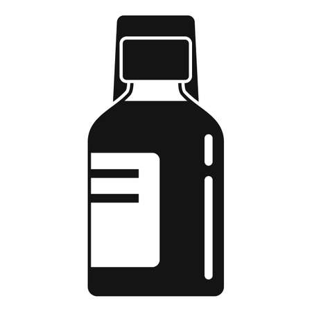 Baby cough syrup icon, simple style
