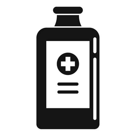 Healthcare cough syrup icon, simple style