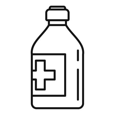 Vitamin cough syrup icon, outline style