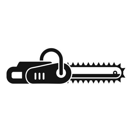 Handle chainsaw icon, simple style
