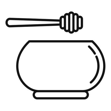 Homeopathy honey bowl icon, outline style