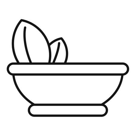 Bowl alternative medicine icon, outline style 向量圖像