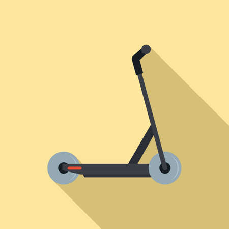 Electric modern scooter icon, flat style Illustration