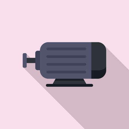 Electric power motor icon, flat style Illusztráció