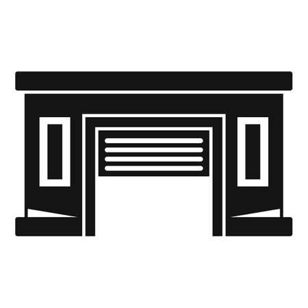 Service car garage icon, simple style Ilustración de vector