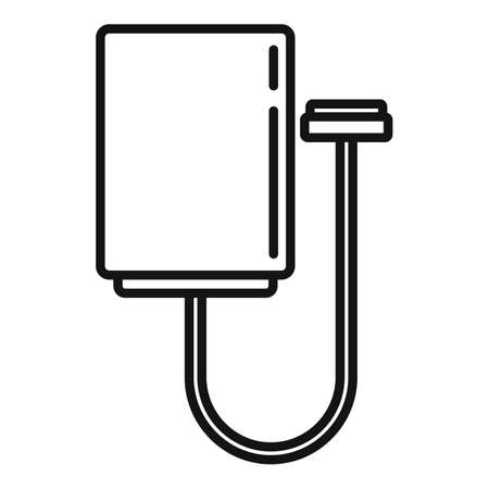 Electric vehicle repair cable icon, outline style