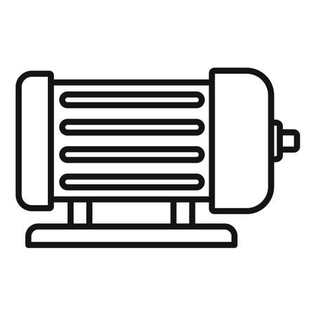 Industrial electric motor icon, outline style