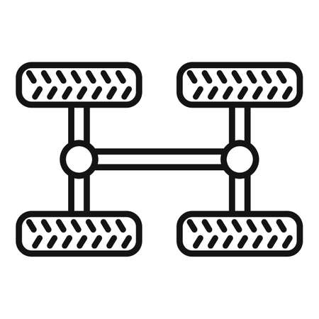 Car chassis icon, outline style