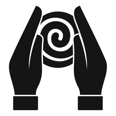 Hypnosis hands icon, simple style Stock Illustratie