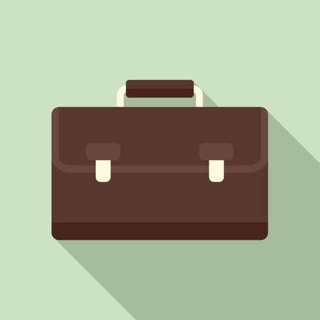 Marketing bag icon, flat style Ilustrace