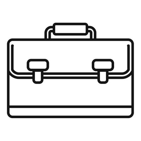 Marketing bag icon, outline style