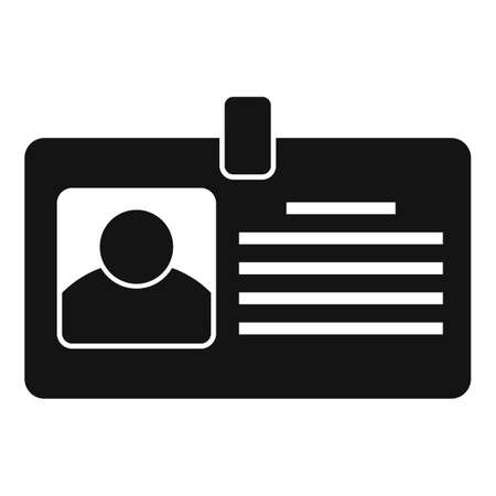 Tax inspector id card icon, simple style
