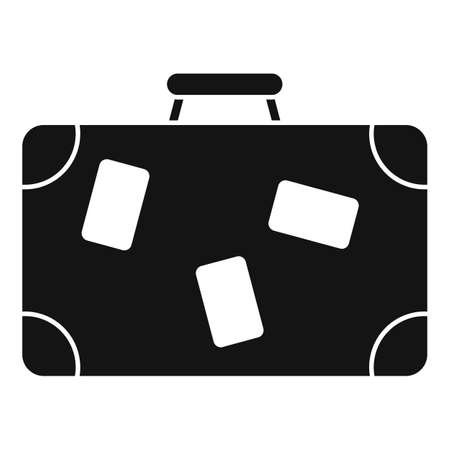 Travel suitcase icon, simple style