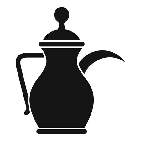 Arabic coffee pot icon, simple style 일러스트